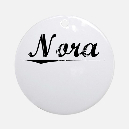 Nora, Vintage Round Ornament