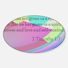 2 Timothy 1:7 Decal