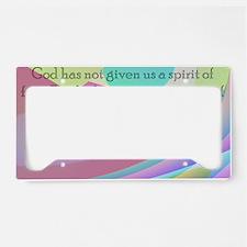 2 Timothy 1:7 License Plate Holder