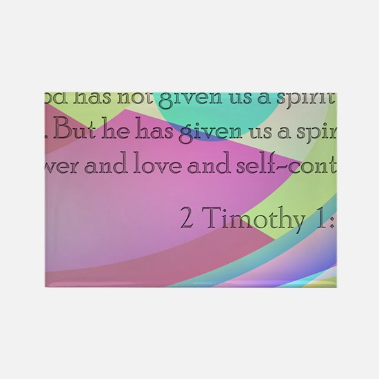 2 Timothy 1:7 Rectangle Magnet