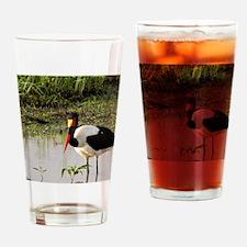 saddle billed stork kenya collectio Drinking Glass