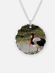 saddle billed stork kenya co Necklace