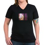 Photo Soundwaves Women's V-Neck Dark T-Shirt