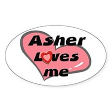 asher loves me Oval Decal