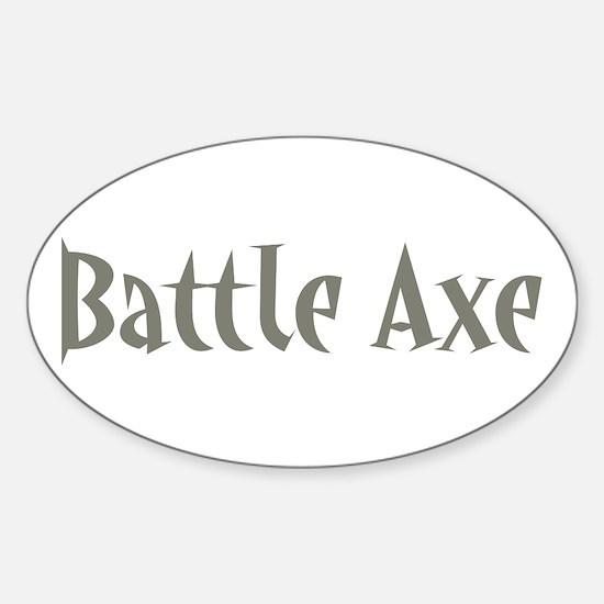 Battle Axe Oval Decal
