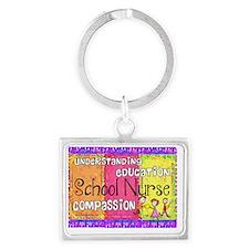 School Nurse giger Landscape Keychain