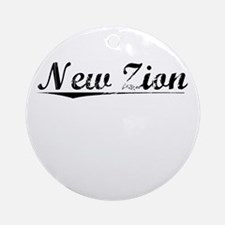 New Zion, Vintage Round Ornament