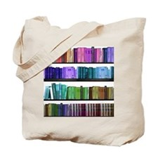 colorful bookshelf Tote Bag