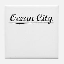Ocean City, Vintage Tile Coaster