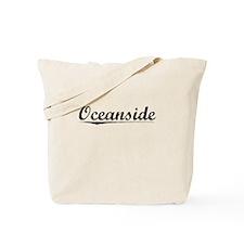 Oceanside, Vintage Tote Bag