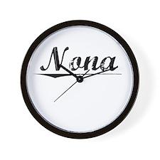 Nona, Vintage Wall Clock