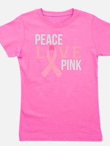 Peace Love Pink Girl's Tee