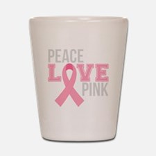 Peace Love Pink Shot Glass