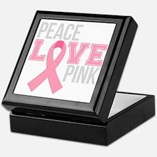 Peace Love Pink Keepsake Box