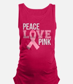 Peace Love Pink Maternity Tank Top