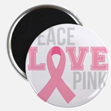 Peace Love Pink Magnet