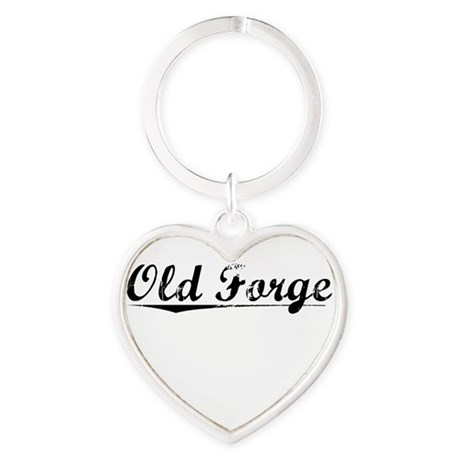 Old Forge, Vintage Heart Keychain