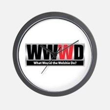 WW the Welshie D Wall Clock