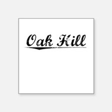 "Oak Hill, Vintage Square Sticker 3"" x 3"""