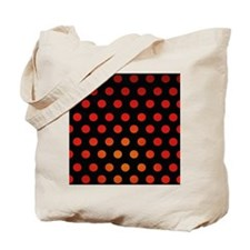 Fire Dots Tote Bag