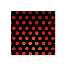 """Fire Dots Square Sticker 3"""" x 3"""""""