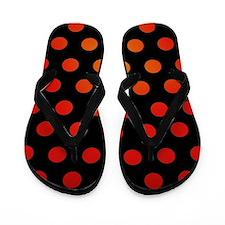 Fire Dots Flip Flops