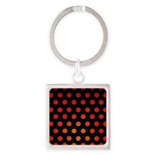 Fire Dots Square Keychain