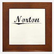 Norton, Vintage Framed Tile
