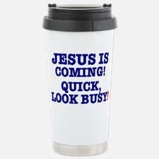 JESUS IS COMING! - LOOK BUSY! Stainless Steel Trav