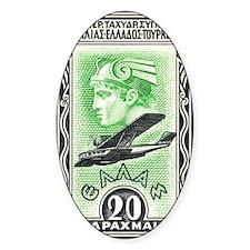 1933 Greece Head of Hermes Aviation Decal