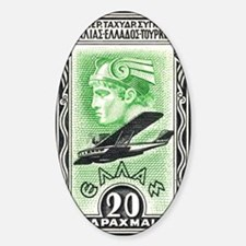 1933 Greece Head of Hermes Aviation Decal
