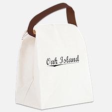 Oak Island, Vintage Canvas Lunch Bag