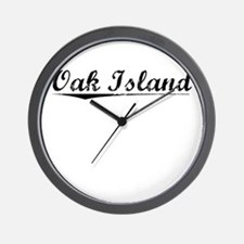 Oak Island, Vintage Wall Clock