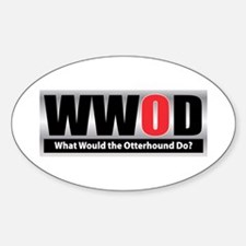WW the Otterhound D Oval Decal