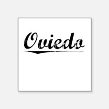 "Oviedo, Vintage Square Sticker 3"" x 3"""