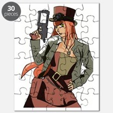 Steampunk Anime Girl Puzzle
