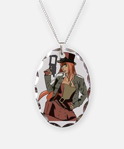 Steampunk Anime Girl Necklace