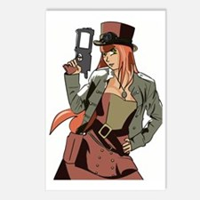 Steampunk Anime Girl Postcards (Package of 8)