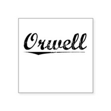 "Orwell, Vintage Square Sticker 3"" x 3"""