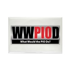 WW the PIO D Rectangle Magnet