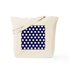 Dark Blue Dots Tote Bag