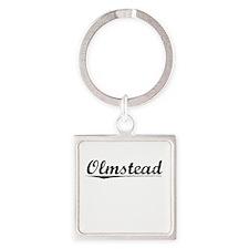 Olmstead, Vintage Square Keychain