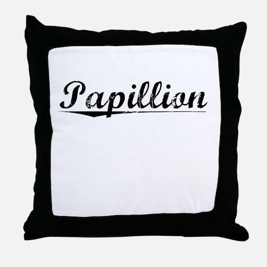 Papillion, Vintage Throw Pillow