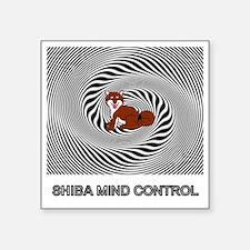 """Shiba Mind Control Square Sticker 3"""" x 3"""""""