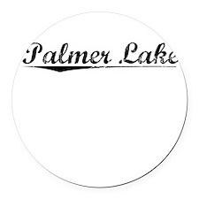Palmer Lake, Vintage Round Car Magnet