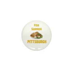 Fish sammich Mini Button (10 pack)