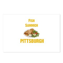 Fish sammich Postcards (Package of 8)