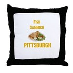 Fish sammich Throw Pillow