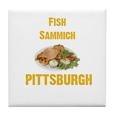 Fish sammich Tile Coaster