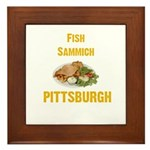 Fish sammich Framed Tile